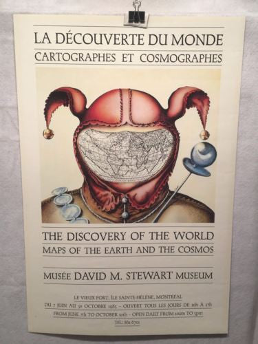 1985 Discovery of the World - Maps of the Earth and the Cosmos Exhibition Poster   - TvMovieCards.com