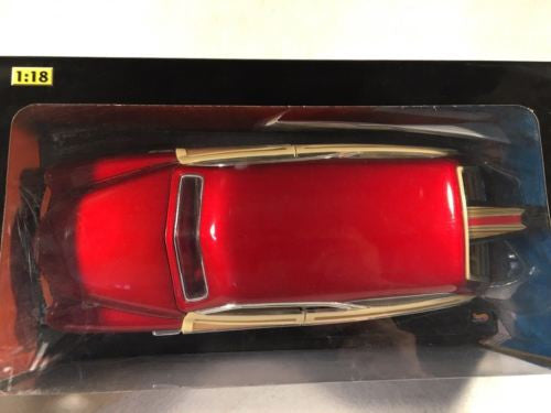 Hot Wheels Collectibles Diecast Car 1:18 1950 Merc Woodie - Red   - TvMovieCards.com