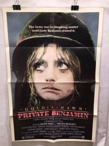 "Original 1980 ""Private Benjamin"" 1 Sheet Movie Poster 27""x 41"" Goldie Hawn   - TvMovieCards.com"