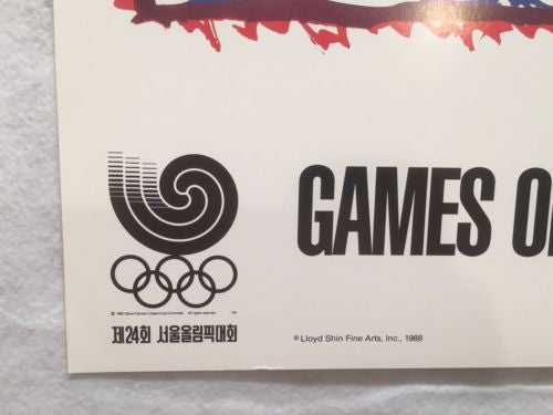 "1988 Original Seoul Olympics Pierre Alechinsky "" Poster South Korea   - TvMovieCards.com"