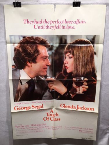 "Original 1973 ""A Touch of Class"" 1 Sheet Movie Poster 27x 41"" George Segal"