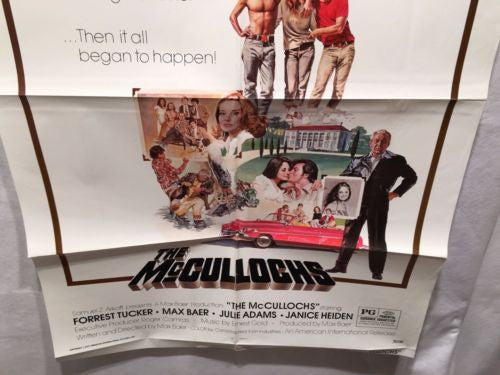"Original 1975 ""The McCullochs"" 1 Sheet Movie Poster 27x 41"" Forrest Tucker   - TvMovieCards.com"