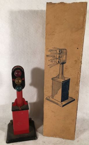 Vintage Marx #405 Automatic Block Red Signal with Original Box