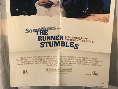 "Original 1979 ""The Runner Stumbles"" 1 Sheet Movie Poster 27""x 41""   - TvMovieCards.com"