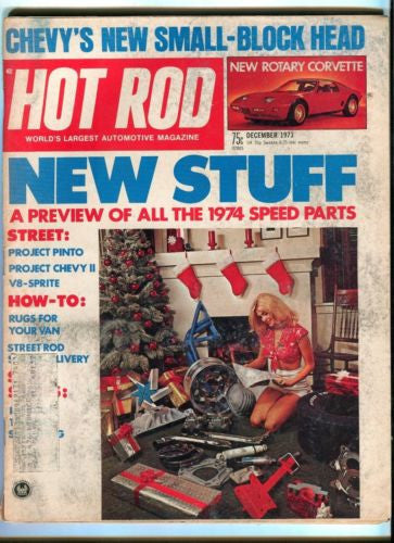 1973 December Hot Rod Magazine Back Issue - New Rotary Corvette   - TvMovieCards.com