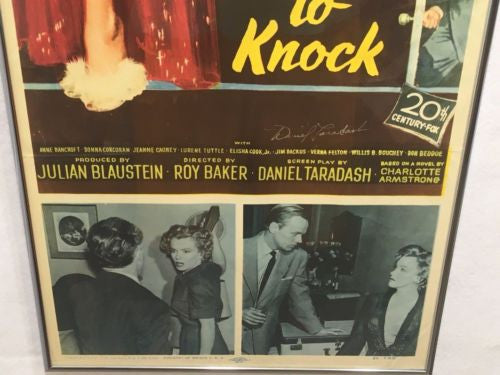 "Original 1952 ""Don't Bother To Knock"" Insert Movie Poster 14 x 36 Marilyn Monroe   - TvMovieCards.com"