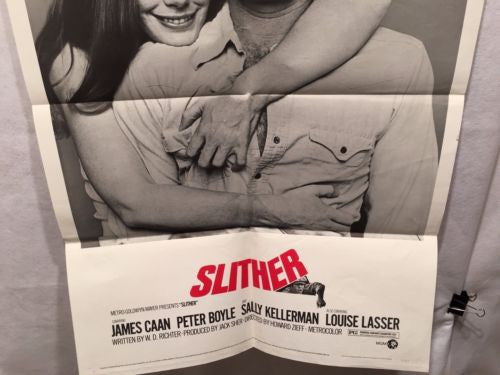 "Original 1973 ""Slither"" 1 Sheet Movie Poster 27""x 41"" James Caan Peter Boyle   - TvMovieCards.com"