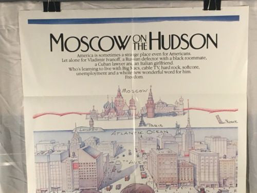 "Original 1984 ""Moscow on the Hudson"" 1 Sheet Movie Poster 27x 41"" Robin Williams   - TvMovieCards.com"