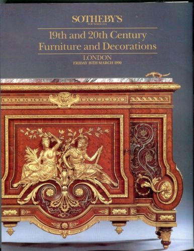 Sotheby's Auction Catalog March 16th 1990 London Furniture and Decorations   - TvMovieCards.com