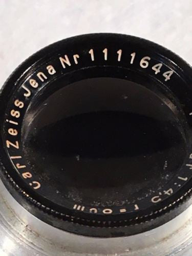 Carl Zeiss Jena Tessar f4,5 8cm 80mm Screw Mount 11 Blade Lens   - TvMovieCards.com