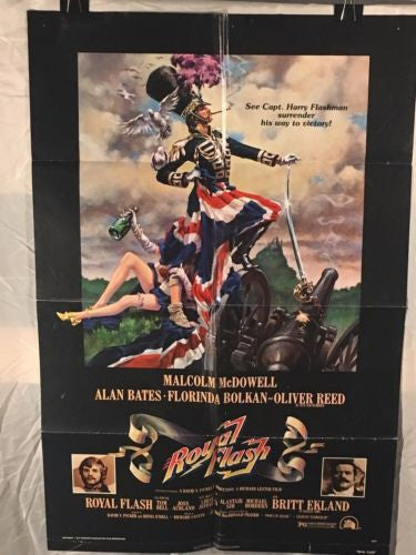 "Original 1975 ""Royal Flash"" 1 Sheet Movie Poster 27""x 41"" MALCOLM MCDOWELL   - TvMovieCards.com"