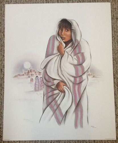 "Sheila Hill ""Whispering Winds"" Lithograph Print Number/Signed   - TvMovieCards.com"