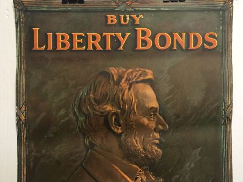 World War I Buy Liberty Bonds Poster WWI Abraham Lincoln Government of People US   - TvMovieCards.com