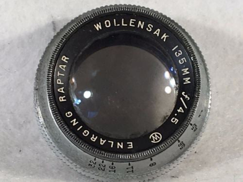 Wollensak 135mm Enlarging Raptor Lens - Dirty - Parts/Repair   - TvMovieCards.com