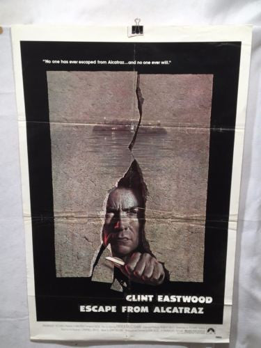 1979 Clint Eastwood - Escape from Alcatraz One Sheet Movie Poster 27x41