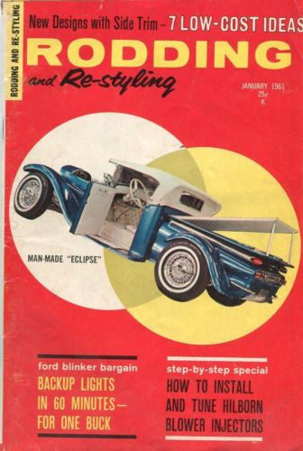 "Rodding and Re-Styling January 1961 Digest Magazine Man-Made ""Eclipse""   - TvMovieCards.com"