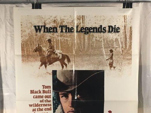 "Original 1972 ""When the Legends Die"" 1 Sheet Movie Poster 27""x 41""   - TvMovieCards.com"