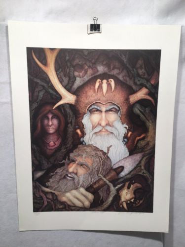 "Vintage John Longendorfer ""Stone Age"" Lithograph Print Signed Numbered 189/275   - TvMovieCards.com"