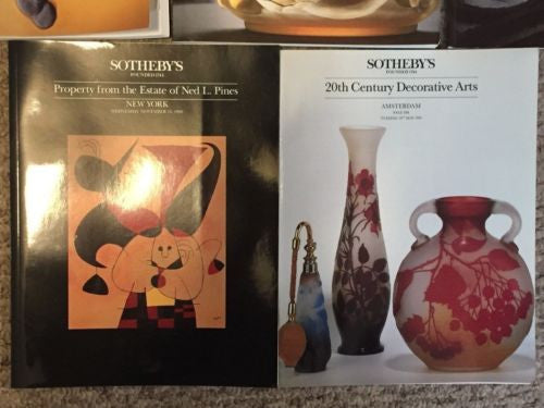 (5) Sotheby's Auction Catalog Lot 20th Century Decorate Arts Garden Estate   - TvMovieCards.com