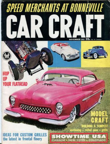 1962 November Car Craft Magazine Back Issue - Speed Merchants At Bonneville   - TvMovieCards.com