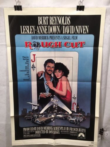 "Original 1980 ""Rough Cut""  1 Sheet Movie Poster 27""x 41"" Burt Reynolds   - TvMovieCards.com"