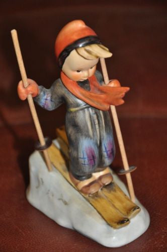 "Goebel Hummel Figurine #59 ""Skier""  TMK5 Germany 5.5"""