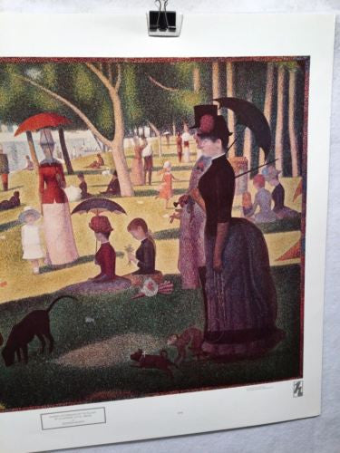 Georges Seurat Sunday Afternoon on the Island of La Grande Jatte Poster 29 x 22   - TvMovieCards.com