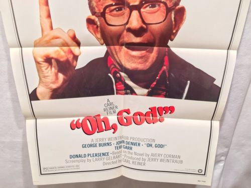 "Original 1977 ""Oh God!"" 1 Sheet Movie Poster 27x 41"" George Burns John Denver   - TvMovieCards.com"