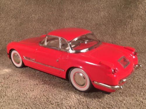 New Toy MF-316 China 1:18 Red 1953 CHEVROLET CORVETTE Coupe Tin Friction   - TvMovieCards.com
