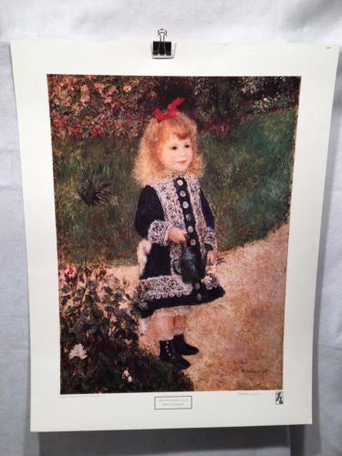 A Girl With A Watering Can - Pierre Auguste Renoir - Harrads Art Poster 29 x 22   - TvMovieCards.com