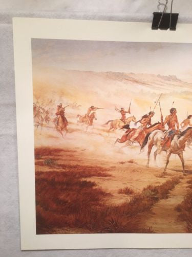 Vintage Western Indian Artwork William Nelson Signed in Pencil   - TvMovieCards.com