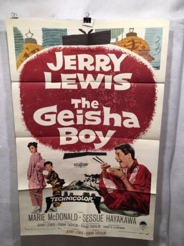 "Original 1958 ""The Geisha Boy"" Jerry Lewis One Sheet Movie Poster 27x41   - TvMovieCards.com"