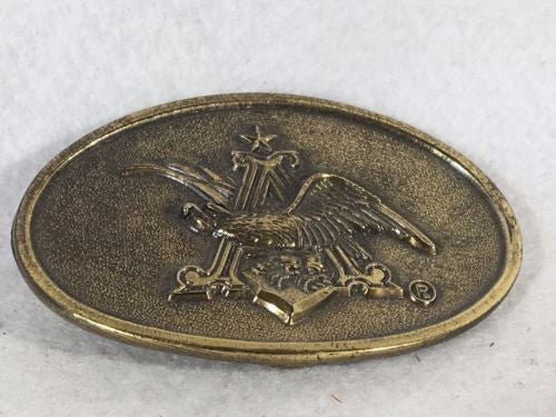 1980 Great American Buckle Company Brass Belt Buckle - Angry Bald Eagle   - TvMovieCards.com