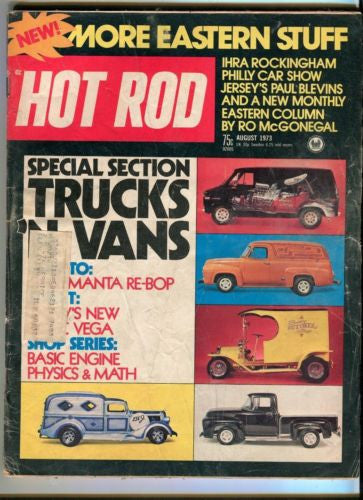 1973 August Hot Rod Magazine March Back Issue - Custom Trucks And Vans