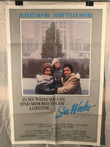 "Original 1982 ""Six Weeks"" 1 Sheet Movie Poster 27x 41"" Mary Tyler Moore Drama   - TvMovieCards.com"