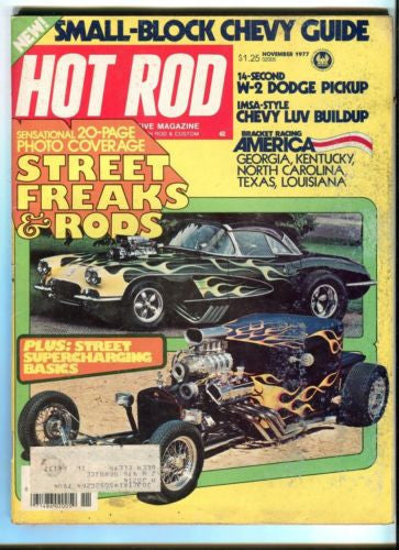 1977 November Hot Rod Magazine March Back Issue - Street Freaks & Rods