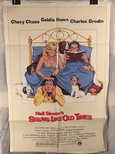 "Original 1980 ""Seems Like Old Times"" 1 Sheet Movie Poster 27""x 41"" Chevy Chase   - TvMovieCards.com"