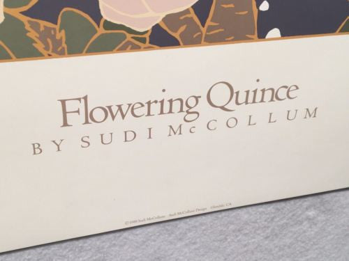 "Flowering Quince - Sudi Mccollum - Lithograph Art Print Poster 24"" x 24""   - TvMovieCards.com"