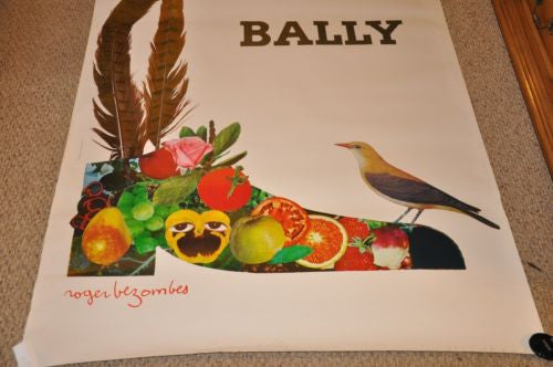 Original 1980s Bally Shoe French Poster 46 x 68 Roger Bezombes Very Nice   - TvMovieCards.com