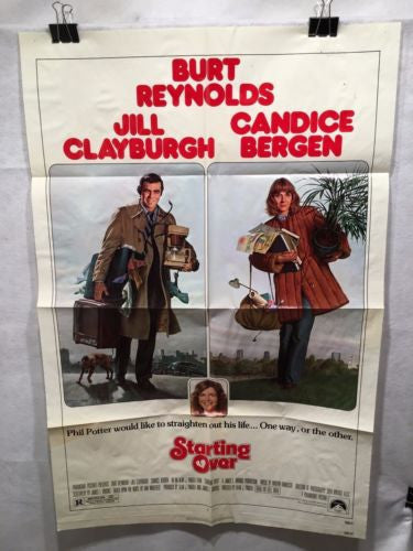 "Original 1977 ""Starting Over"" 1 Sheet Movie Poster 27""x 41"" Burt Reynolds   - TvMovieCards.com"
