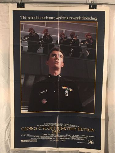 "Original 1981 ""Taps"" 1 Sheet Movie Poster 27""x 41"" George C Scott Timothy Hutton   - TvMovieCards.com"