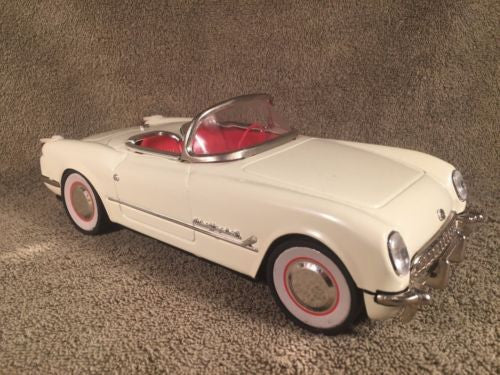 New Toy MF-317 China 1:18 White 1953 CHEVROLET CORVETTE Convertible Tin Friction   - TvMovieCards.com
