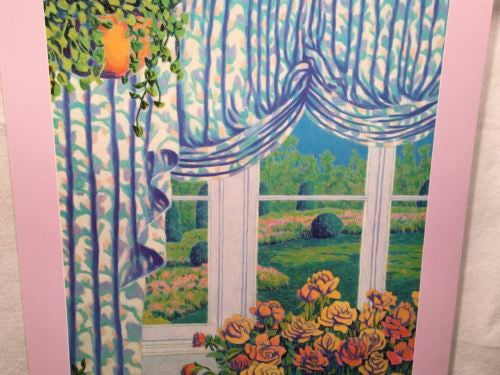 "Ron Marlett - Summer Window - Pop Impressionism Art Print Poster 30"" x 24""   - TvMovieCards.com"
