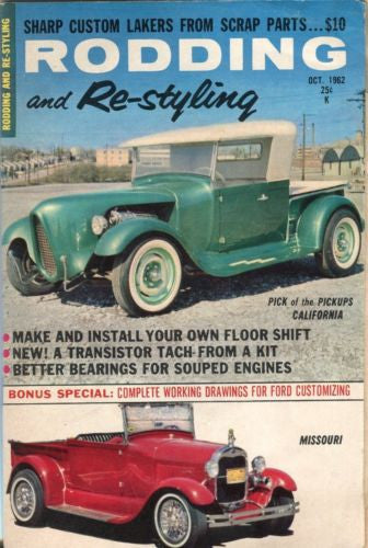 Rodding and Re-Styling October 1962 Digest Magazine Pickups California   - TvMovieCards.com