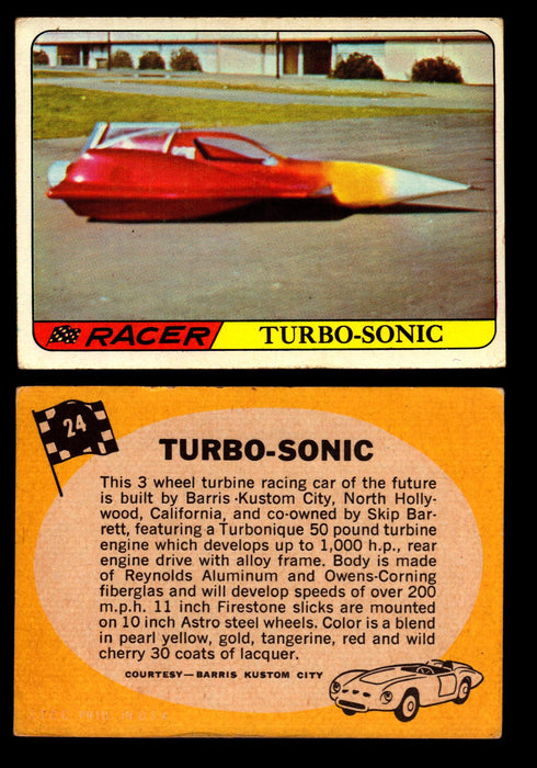 Hot Rods Topps 1968 George Barris Vintage Trading Cards You Pick Singles #24 Turbo-Sonic  - TvMovieCards.com