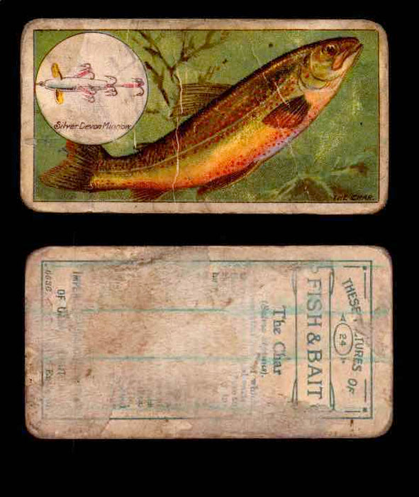 1910 Fish and Bait Imperial Tobacco Vintage Trading Cards You Pick Singles #1-50 #24 The Char  - TvMovieCards.com