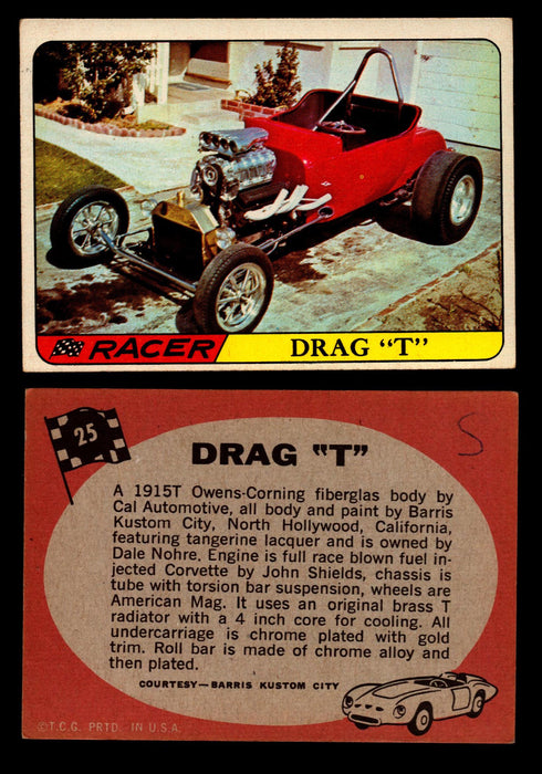 "Hot Rods Topps 1968 George Barris Vintage Trading Cards You Pick Singles #25 Drag ""T""  - TvMovieCards.com"