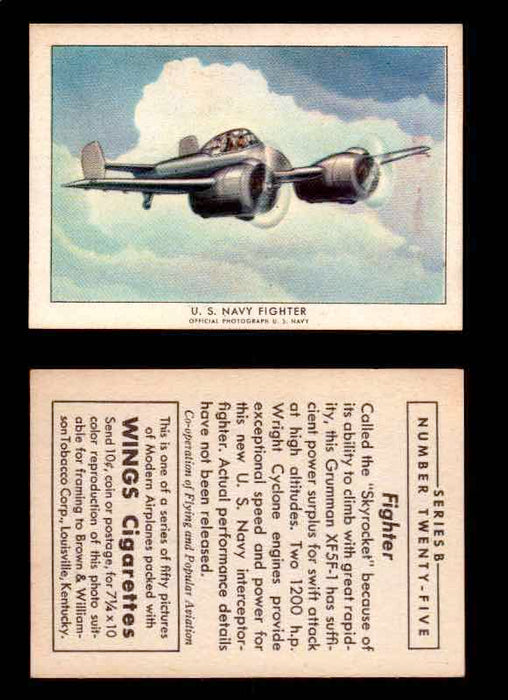 1941 Modern American Airplanes Series B Vintage Trading Cards Pick Singles #1-50 25	 	U.S. Navy Fighter  - TvMovieCards.com