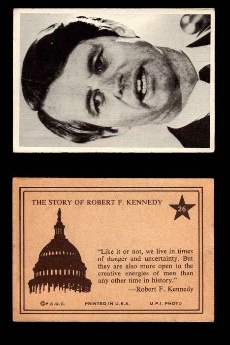 1968 The Story of Robert F. Kennedy JFK PCGC Trading Card You Pick Singles #1-66 #26  - TvMovieCards.com