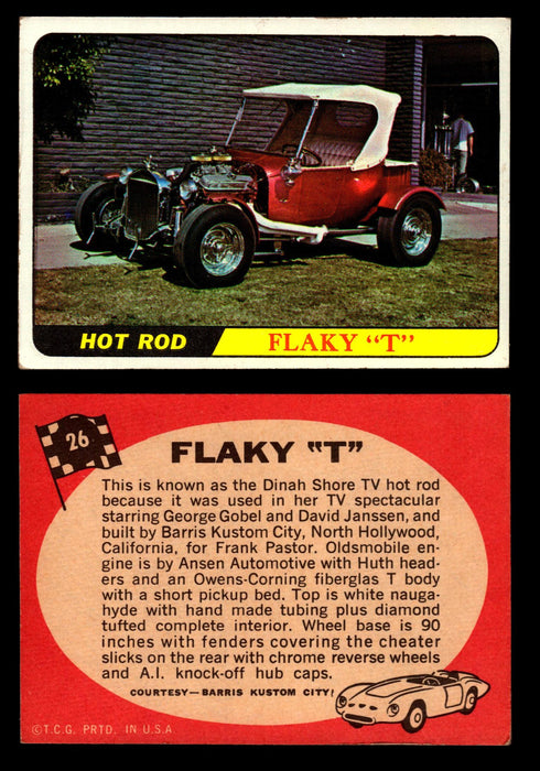 "Hot Rods Topps 1968 George Barris Vintage Trading Cards You Pick Singles #26 Flaky ""T""  - TvMovieCards.com"